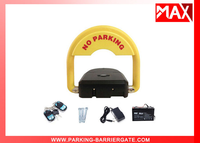 Remote-Controlled Car Parking Lock with Rechargeable Battery
