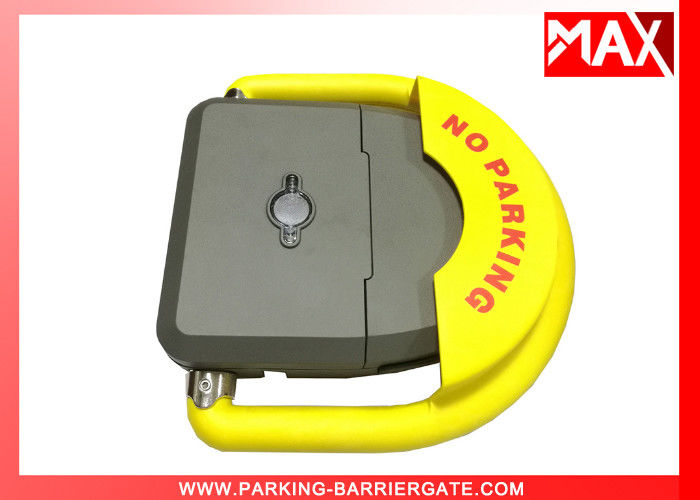 Yellow Parking Reservation Lock  0.4A Parking Lot Equipment DC 12V