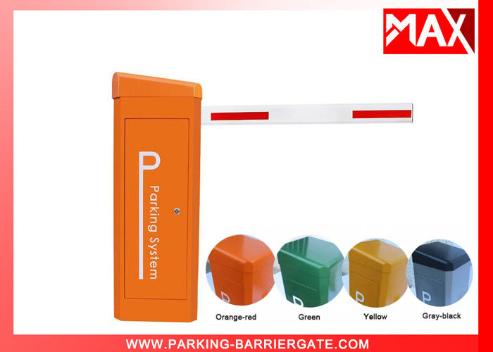 Solar Power Car Park Barriers Boom Gates 1400rmp Motor Rotational Speed 2 Year Warranty